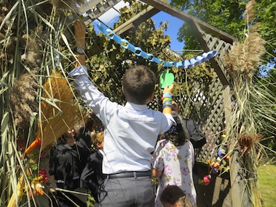 Decorating the Sukkah